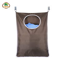 Msjo Hanging Laundry Hamper Wash Bag Clothes Organizer Storage Bag Household Door  Wall Mounted Case With Suction Cup Hook