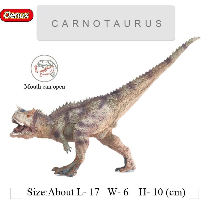 Ferocious Jurassic  Dinosaurs Classic Carnotaurus T-REX Mouth Can Open Dinosaurio Action Figures Toy For Kids Gift oenux prehistoric jurassic carnivorous dinosaurs walking tyrannosaurus rex t rex world action figures dinosaur toy for kid gift