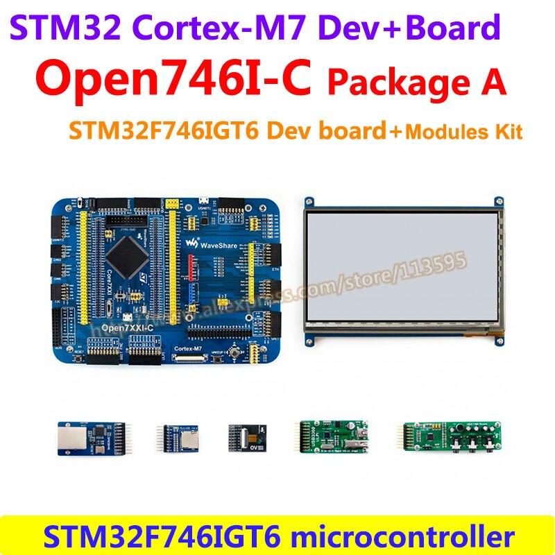 US $139 66 |STM32F7 Development Board Open746I C Package A STM32F746IGT6  MCU STM32F746IGT6(Cortex M7 32 bit RISC,216MHz,1024KB Flash)-in Demo Board