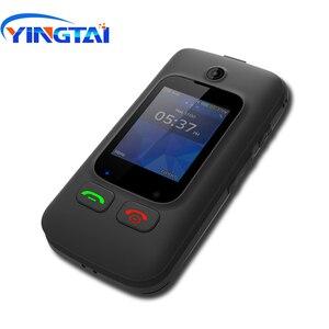 Image 1 - מקורי YINGTAI T22 3G MTK6276 GPRS MMS גדול לדחוף כפתור בכיר טלפון Dual SIM הכפול להעיף מסך עבור הבכור 2.4 אינץ
