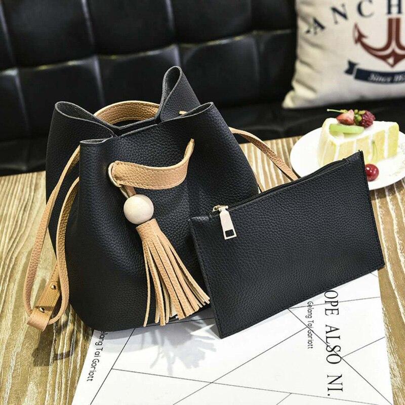 2018 New Fashion Woman Shoulder Bags Famous Brand Luxury Handbags Women Bags Tassel PU Casual Totes Women Mujer Bolsas