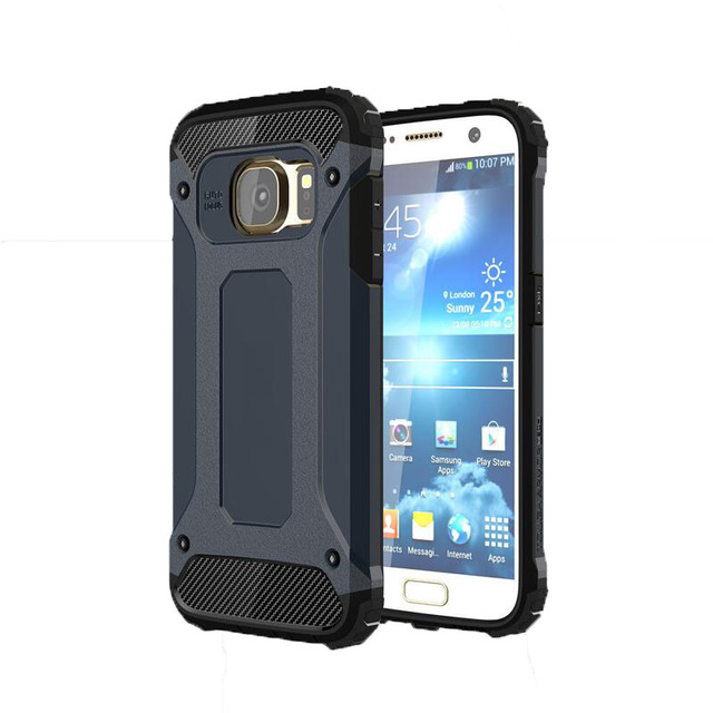 cheap for discount 862c0 47775 US $2.46 18% OFF|For Samsung galaxy s7 edge caus Shockproof rugged armor  phone case antiknock double protector Slim Hybrid Cover s7 edge ( XX1221-in  ...