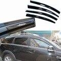 4 pcs Janelas de Ventilação Viseiras Chuva Guarda Sol Escudo Escuro Defletores Para Chevrolet Captiva