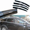 4pcs Windows Vent Visors Rain Guard Dark Sun Shield Deflectors For Chevrolet Captiva