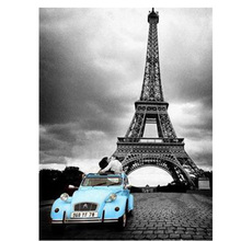 Eiffel Tower Pairs And Car Make Your Own Diamond Painting Square Full Rhinestone 3D DIY embroidery Cross Stitch