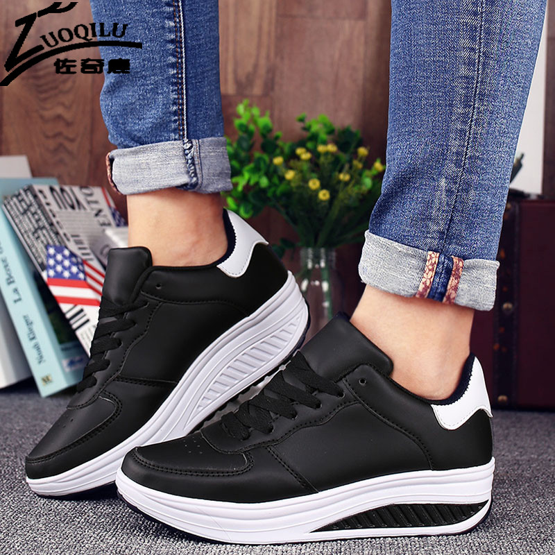 71a5858a870c Woman Platform Shoes Swing Wedges Breathable Shoes Women Mesh Walking  Chaussure Femme Tenis Feminino-in Women s Vulcanize Shoes from Shoes