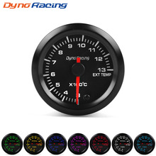 Dynoracing 2 52mm 7 Colors LED Car Exhaust Gas Temp Gauge 300-1300 Celsius EGT High Speed Motor EXT BX101494