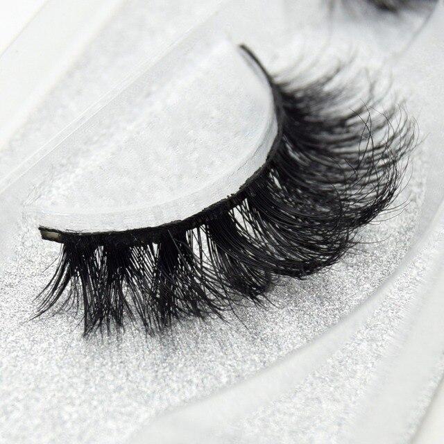 visofree 3D Mink Lashes Eyelash Extension 100% Handmade Thick Volume Long False Lash Makeup Giltter Packing 1 Pair D110 4