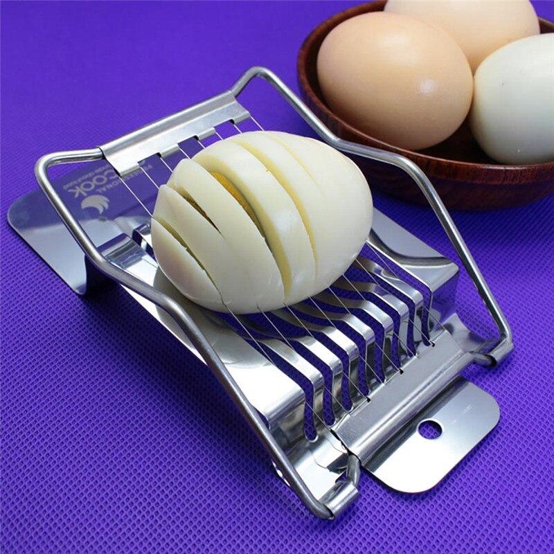 1pcs Stainless Steel Boiled Egg Slicer Section Cutter