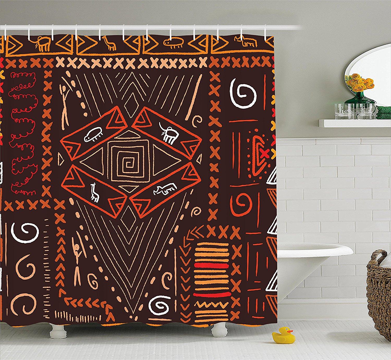 Tribal Shower Curtain Aboriginal Style Patterns Tribal