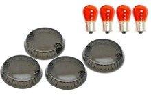 4 PCS Smoke Turn Signal Lens Lenses Indicator Blinkers For Kawasaki Vulcan 1500 Nomad 1999-2004