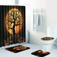 Bathroom Rug Set Bath Mat Non Slip + Waterproof Bathroom Shower Curtain Set Carpet 50x80 Foot Pads Contour Rug Sets