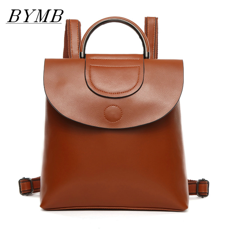 2017 Hot! Men and women fashion 100% genuine leather backpack school bag popular style brown bags and shoulder school backpacks 2016 new sports men and women backpacks fashion men s backpack unsix men shoulder bag brand design ladies school backpack