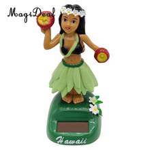 Dancing Hula Hawaiian Girl Figure Model - Solar Power Model Doll Figurine Statue Kid Educational Science Toy Gift Home Decor #E(China)