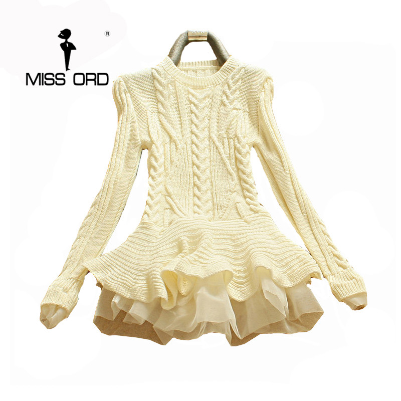Missord 2019 Fashion Flounced Hedging Slim Was Thin Long-sleeved Sweater   MQ3518