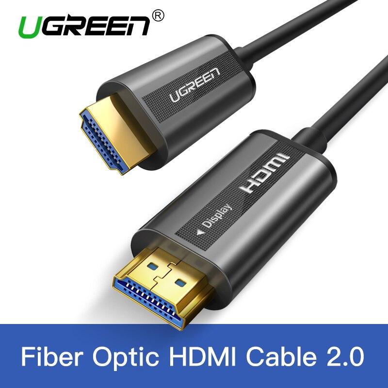 UGREEN HDMI Kabel 4 karat 60 hz Fiber Optic HDMI Kabel 2,0 2.0a 2.0b HDR für HD TV Box Xiaomi projektor PS4 Kabel HDMI 10 mt 15 mt 20 mt 30 mt