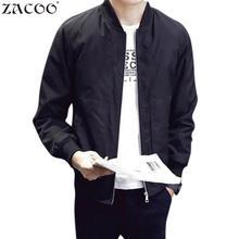 ZACOO Men's Fashion Jackets Casual Zipper Coats Tops Solid Zipper Jacke