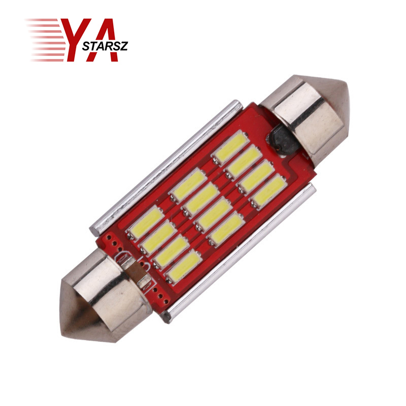 1pcs High Quality 31mm 36mm 39mm 42mm C5W C10W Super Bright 12 SMD 4014 LED Car Festoon Lamp Auto Dome Light Interior Bulb White 2pcs 12v 31mm 36mm 39mm 41mm canbus led auto festoon light error free interior doom lamp car styling for volvo bmw audi benz