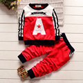 The boy's sweater suit Hitz Korean baby cotton long sleeved two sets of children's sports suit for children