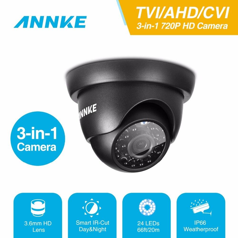 ANNKE 720P HD Metal Security Camera IP66 weatherproof Indoor outdoor  TVI/AHD/CVI 3-in-1 CCTV Camera in Surveillance System annke 8ch 720p 1500tvl cctv system 8pcs 720p ir outdoor security cameras 8ch 1080n 4in1 dvr kit cctv surveillance system