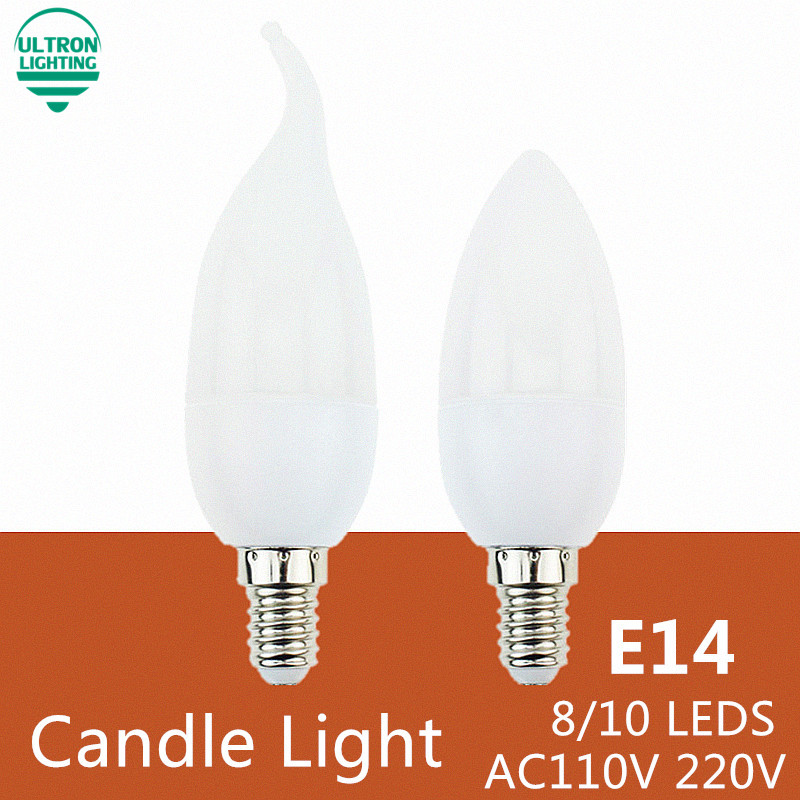 Led Candle Lamp E14 220V Spotlight SMD2835 8 10leds Lampada Led Warm /Cool White Led Bulb Light Chandelier Crystal Lamp candle led bulb e14 9w 12w aluminum shell e14 led light lamp 220v golden silver cool warm white ampoule lampara led smd 2835