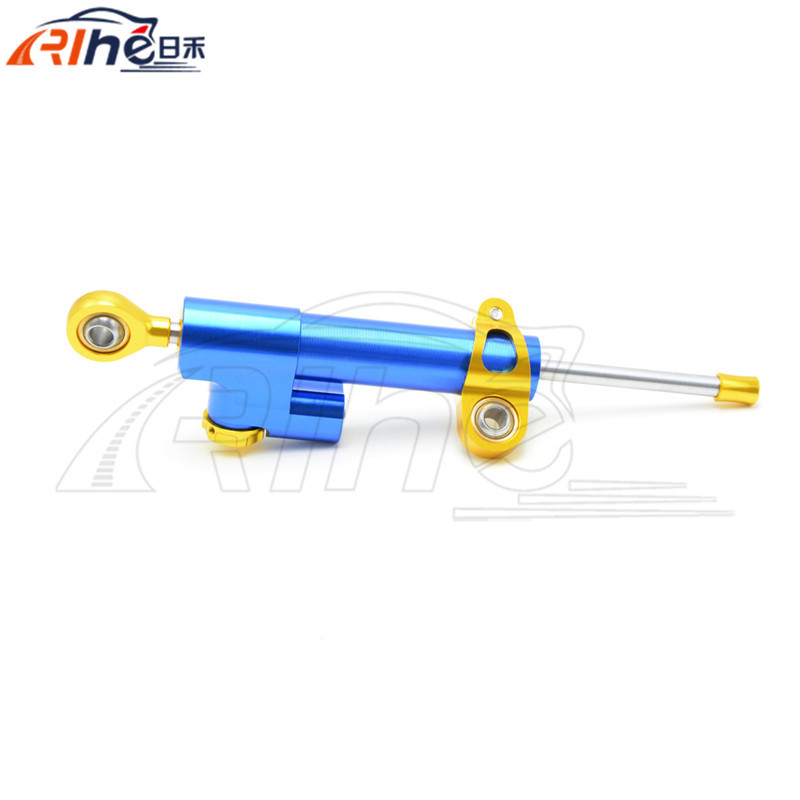 2017 brand new universal Motorcycle CNC aluminum Steering Damper blue color Stabilizer Linear Reversed Safety Control 5 colors