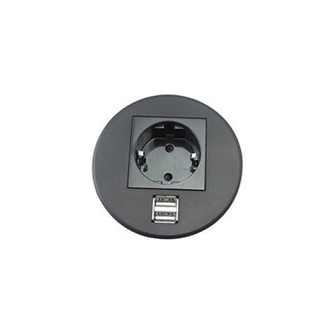 Prise de Charge Simple avec 1 prise de courant EU + 2 chargeur USB pour bureau à domicile salle de conférence cuisine pièce pratique