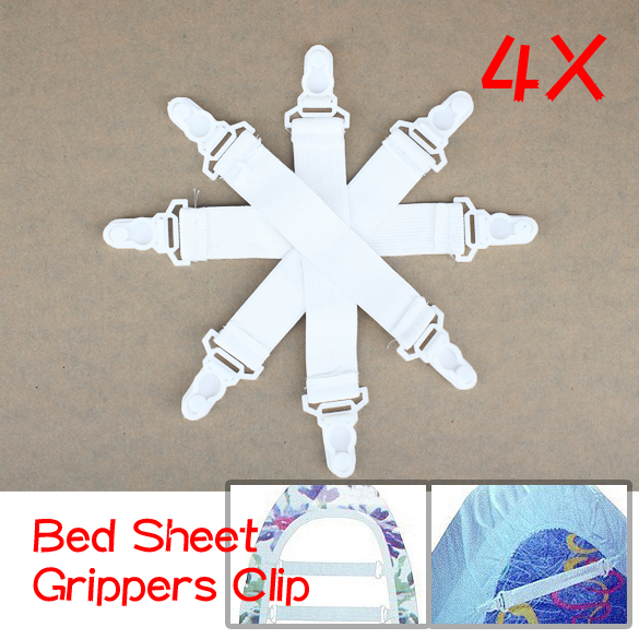 2017 House Bed Sheet Fasteners Elastic Grippers Clip Holder 4 Pcs Housekeeping & Organization Belt J2Y