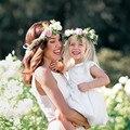 Mamãe e Me Headband Da Flor Do Bebê Headband Da Flor Menina Crown Headband Acessórios de Cabelo Foto Prop Presente para A Mãe eo Bebê