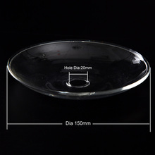 2pcs/package big clear glass ash tray for led art hookah coal tray chicha shisha head narguile bowl accessories szisza smoking