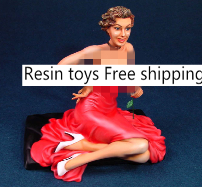 pre order-Resin toys  L1608 1/16 ROSE MARRIE Free shipping resin assembly kits 1 9 200mm police girl 200mm unpainted kit resin model free shipping