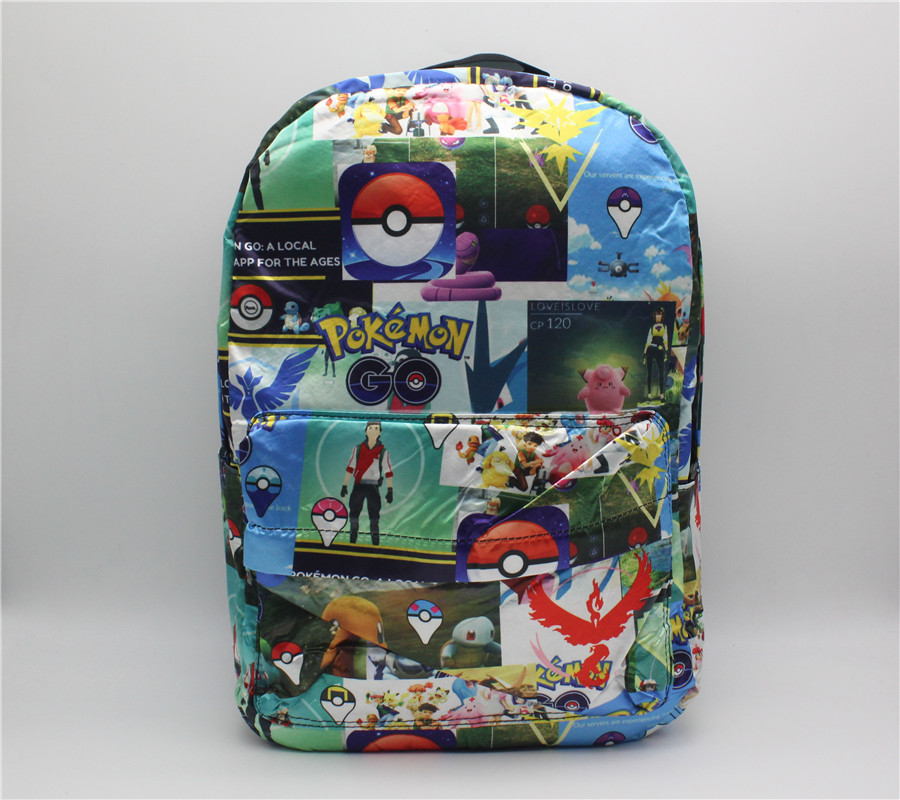 Game Pokemon GO Pocket Monste Backpack cosplay Canvas print men women bag backpack Bag Travel bag rucksack