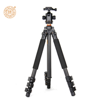 Q472 carbon fiber 1550mm camera tripod lightweight 1.8kg digital tripod with handle head gimbal head photographic tripod for slr
