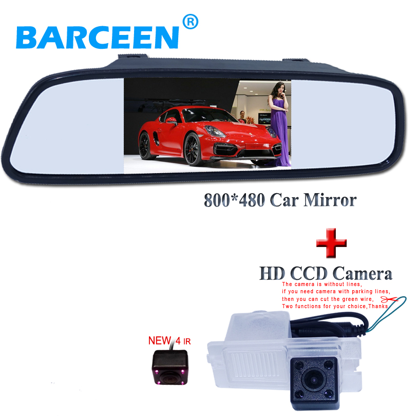 Auto Parking Assistanc 4 3 car parking Mirror 170 Degrees Car Rearview Camera for SsangYong Actyon