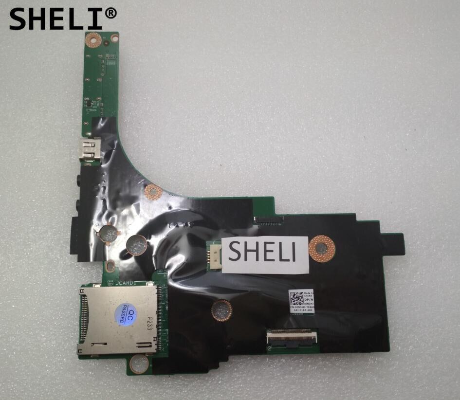 SHELI For Dell M6600 I/O Ports Audio USB Card Reader IEEE Board CN-0JNGMJ 0JNGMJ JNGMJ