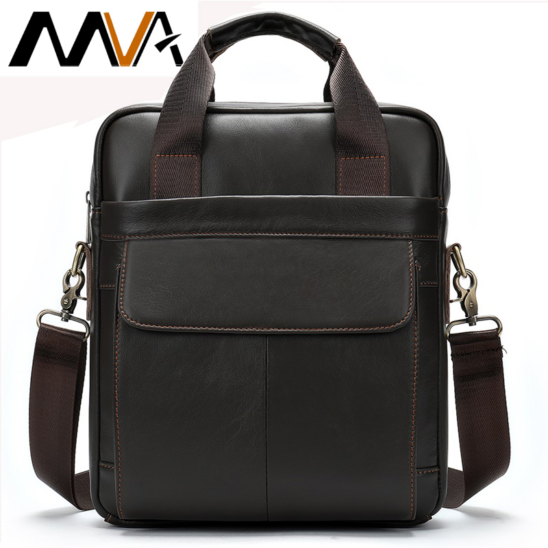 MVA Genuine Leather Men's Bag Messenger Bag Men Leather Crossbody Bags For Men Handbag Business Men's Laptop/shoulder Bag 8568