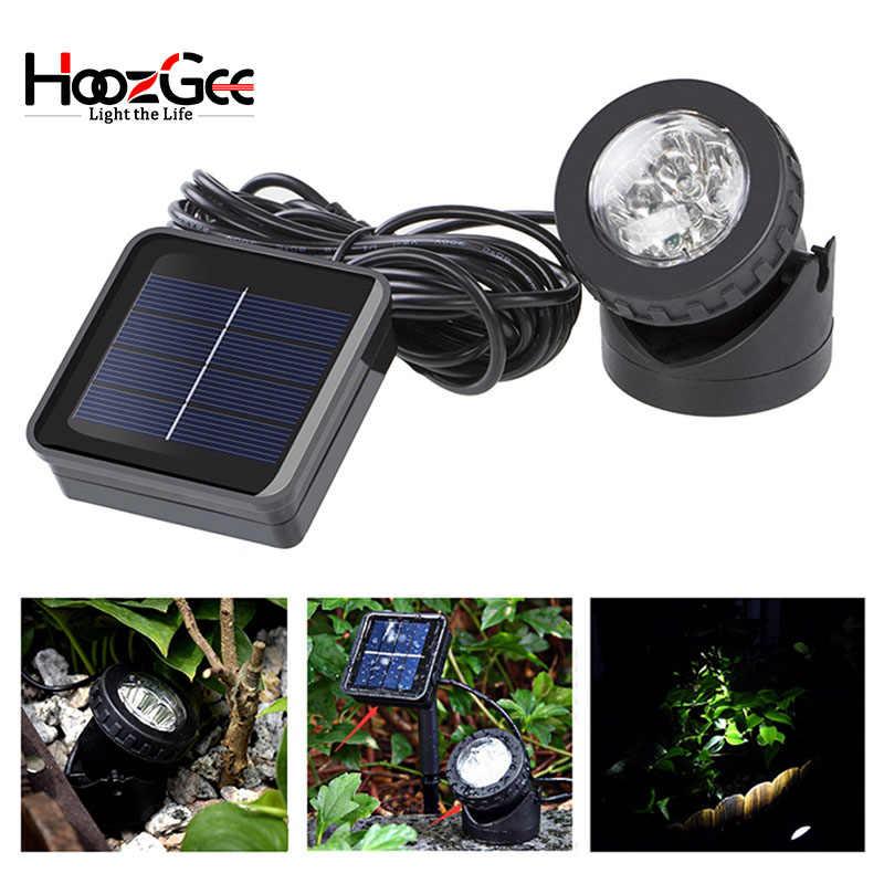 HoozGee точечные светильники на солнечных батареях Открытый сад 6 светодиодный