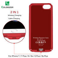 Qi Wireless Charger Receiver Case For iPhone 7 7 Plus 2 In 1 Wireless Charging & Cable Charging Cover For iPhone 6 6s Plus Cases