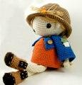 Jones de abóbora boneca de crochê Amigurumi