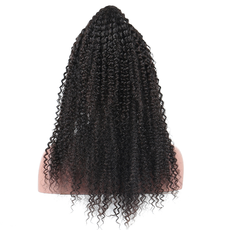 Glueless Full Lace Wigs Human Hair With Baby Hair Brazilian Kinky Curly Pre Plucked Full Lace Wigs 130% Density Honey Queen Remy