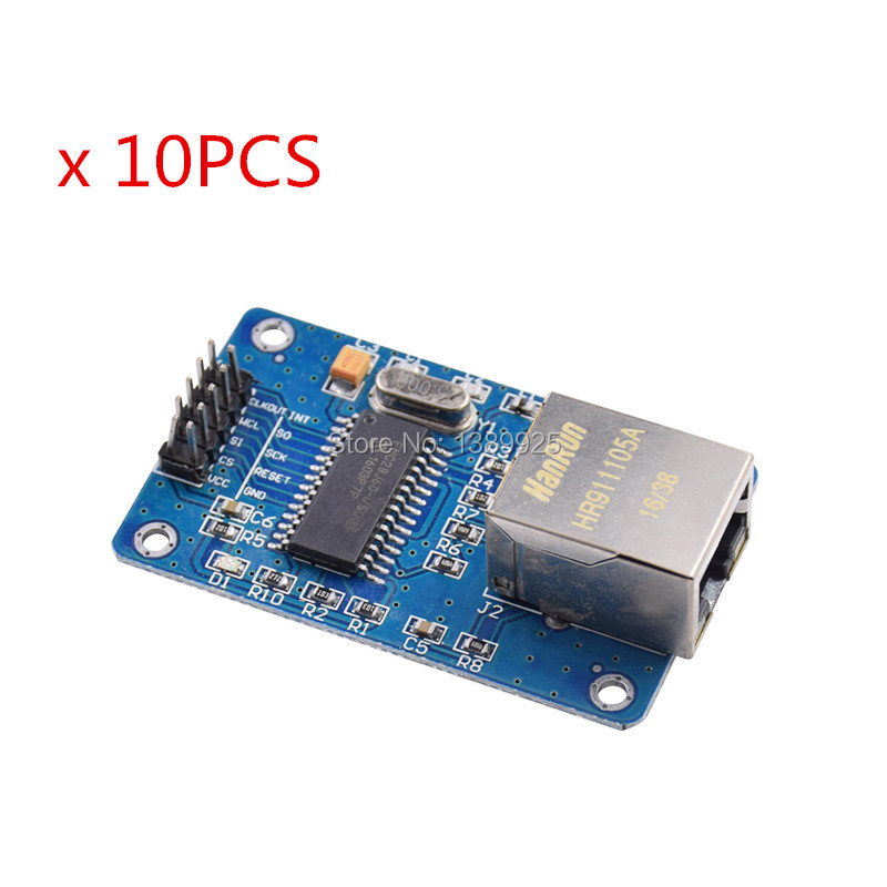 10pcs/lot ENC28J60 SPI Interface Network Module Ethernet Module (mini Version)