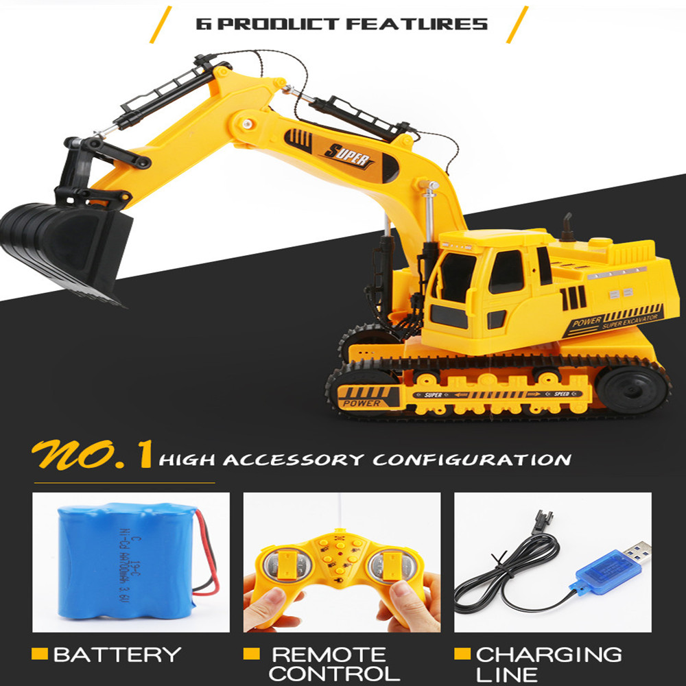 Image 3 - 2.4GHz 12CH 1:18 RC Car Drift Alloy Excavator  Kids Adults Remote Control Toy Car-in RC Cars from Toys & Hobbies