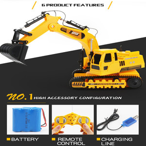 Image 3 - 2.4GHz 12CH 1:18 RC Car Drift Alloy Excavator  Kids Adults Remote Control Toy Car