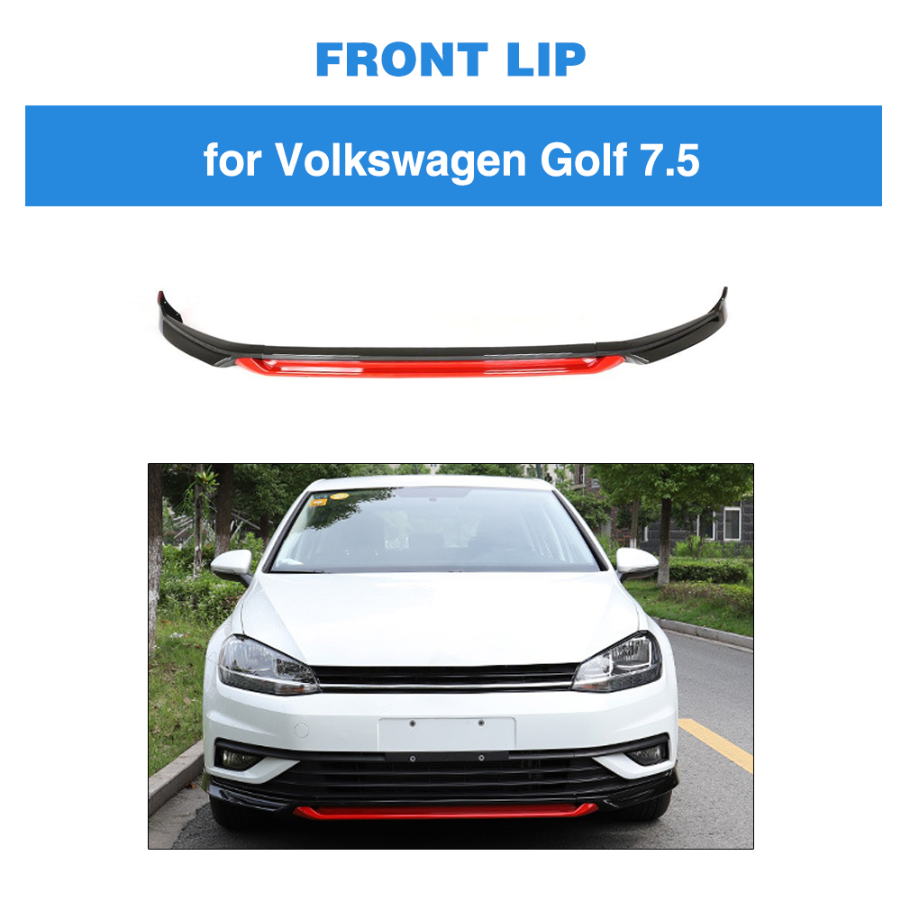 PP Black White Red Painted For VW Volkswagen Golf 7.5 Standard Hatchback 4-Door 2018 2019 Front Bumper Lip Splitters