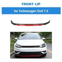 PP Black White Red Painted For VW Volkswagen Golf 7.5 Standard Hatchback 4 Door 2018 2019 Front Bumper Lip Splitters