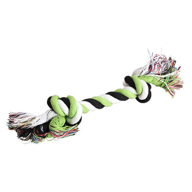 1 pcs Pets dogs pet supplies Pet Dog Puppy Cotton Chew Knot Toy Durable Braided Bone Rope 15CM Funny Tool (Random Color ) 3