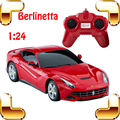 Новый Год Подарок Berlinetta 1/24 RC Автомобилей Управления По Радио Roadster Легко Контроллер RC Дрейф Автомобиль Высокой Двигателя Электрические Машины Игрушки