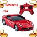 Berlinetta 1/24 RC do Controle de Rádio Do Carro do Presente Do Ano novo Roadster Fácil Controlador RC Deriva Veículo Brinquedos de Alta Máquina de Motor Elétrico