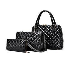 ผู้หญิงกระเป๋าแฟชั่นกระเป๋าถือFemalกระเป๋าสะพายกระเป๋าMessengerที่มีคุณภาพสูง3 Bag/ชุดตกปลายี่ห้อออกแบบลายสก๊อตน้ำแพคเกจ35Z