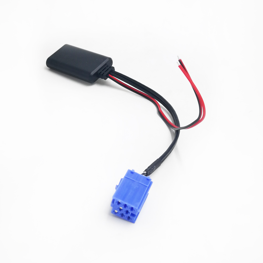 Biurlink AUX Linie In Bluetooth Adapter Kabel Mini ISO 8Pin Radio Wireless Audio für Volkswagen Blaupunkt Becker VDO